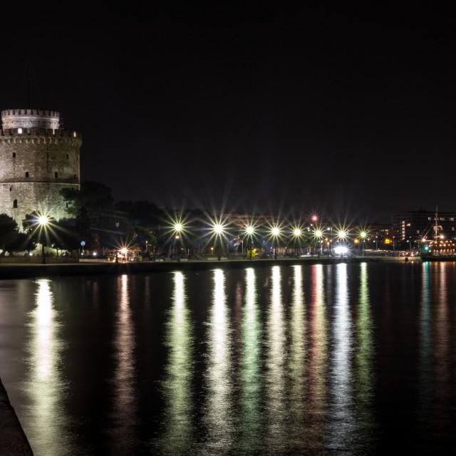 """Thessaloniki at night"" stock image"