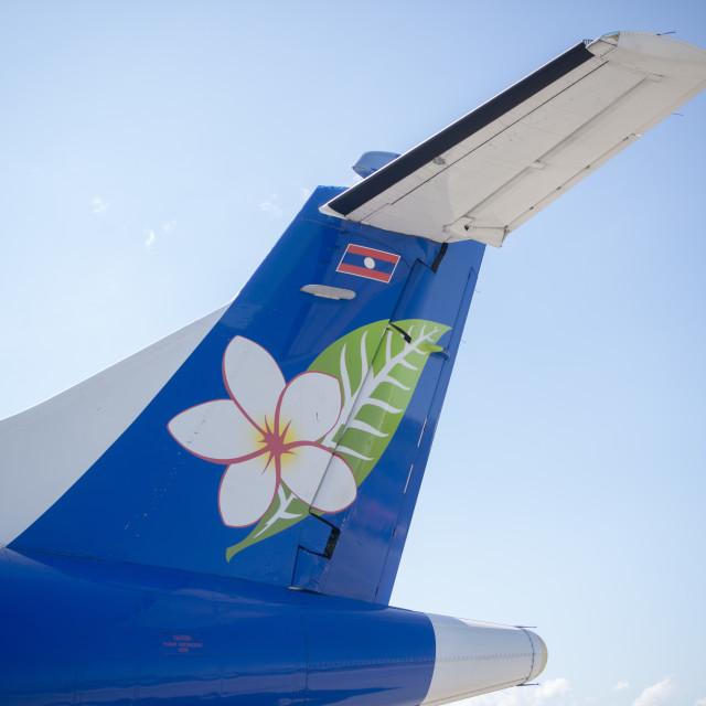 """LAOS LUANG PRABANG LAO AIRLINES"" stock image"