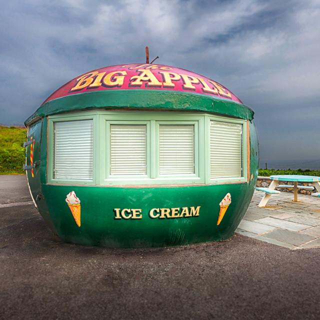 """The Big Apple Kiosk"" stock image"
