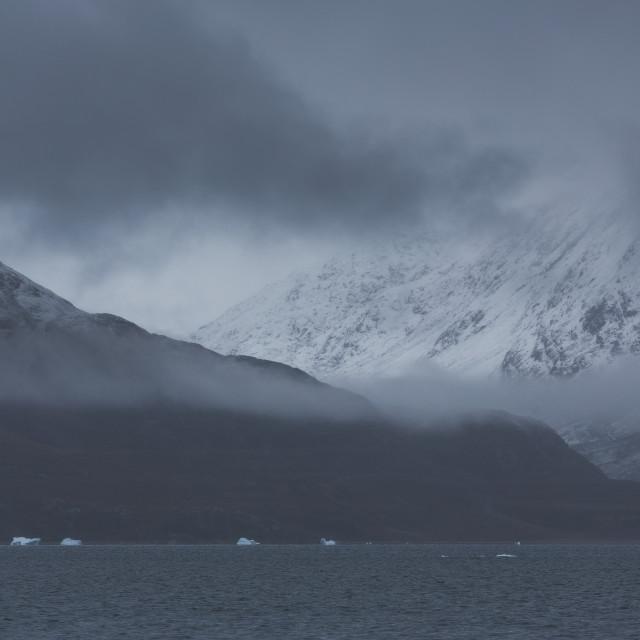 """Greenland fog"" stock image"