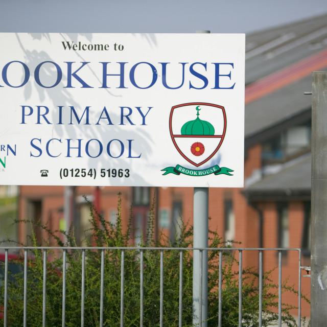 """""""A junior school in a Pakistani area of blackburn UK"""" stock image"""