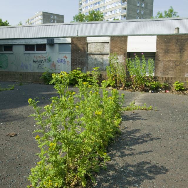 """A rundown area in Blackburn UK"" stock image"
