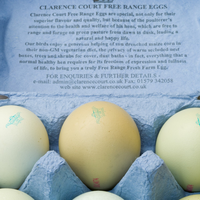 """rare breed free range eggs"" stock image"