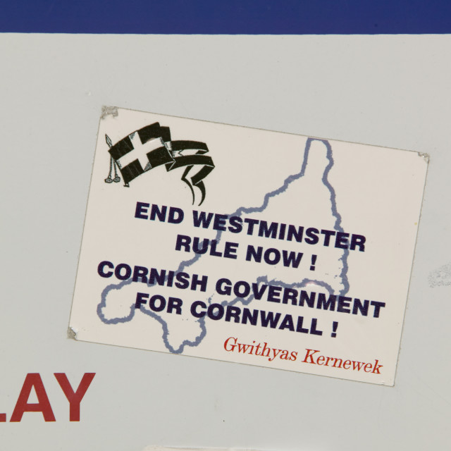 """An independance for Cornwall sticker"" stock image"