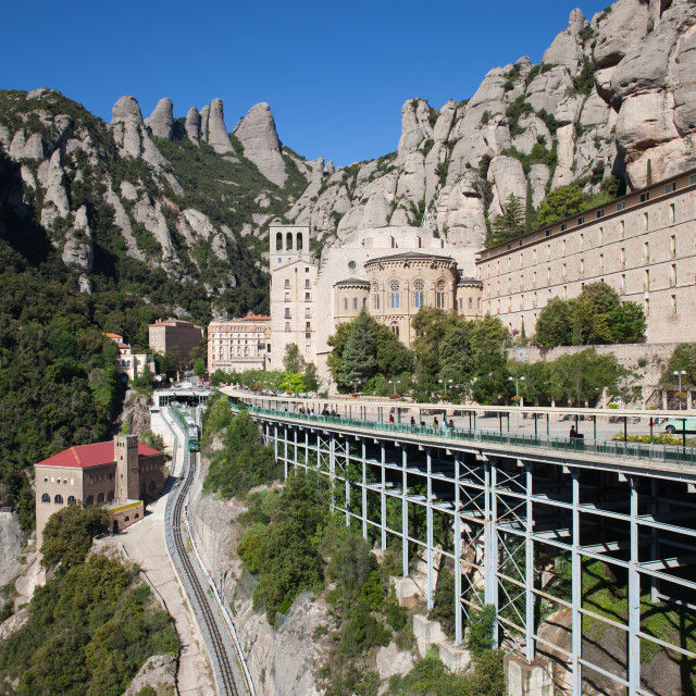 """Santa Maria de Montserrat in Spain"" stock image"