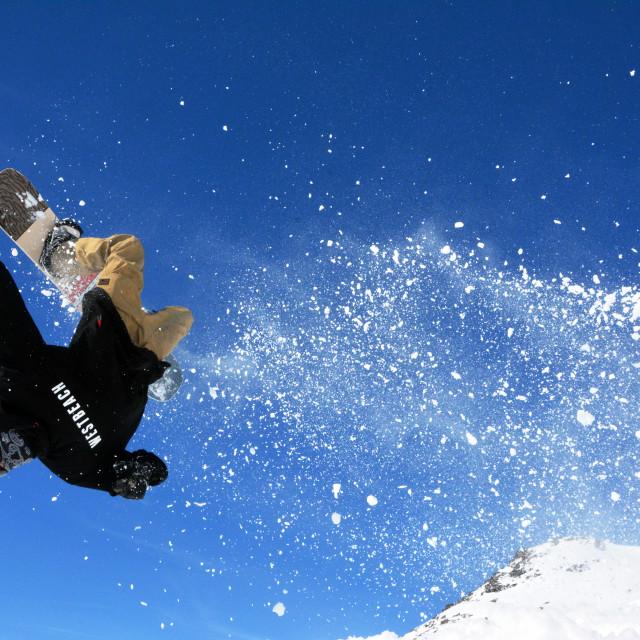 """Snowboarding Backflip"" stock image"