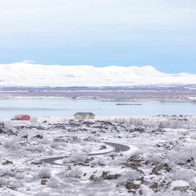 """Winter landscape Iceland"" stock image"