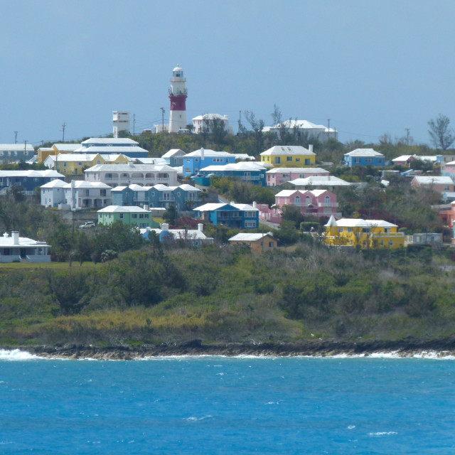 """Bermuda houses"" stock image"
