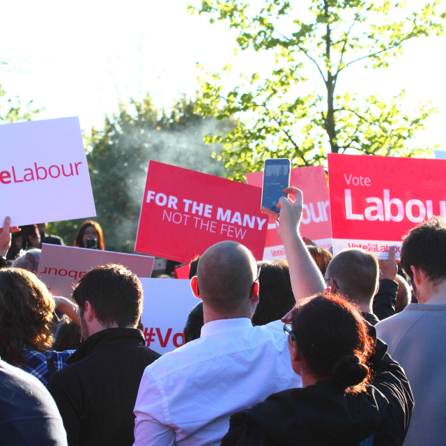"""""""Labour party rally 2017"""" stock image"""