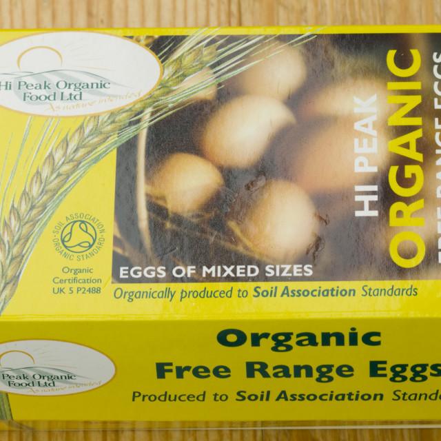 """organic free range eggs"" stock image"
