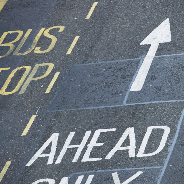 """""""Road markings in Leicester UK"""" stock image"""