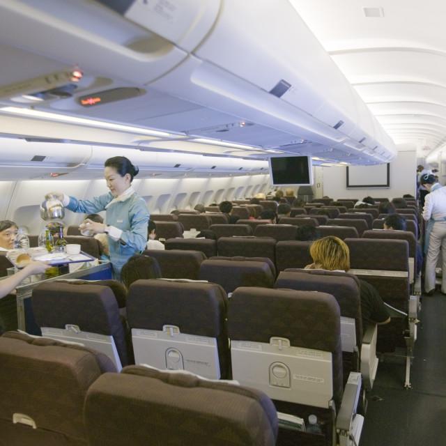 """An Air korean flight"" stock image"