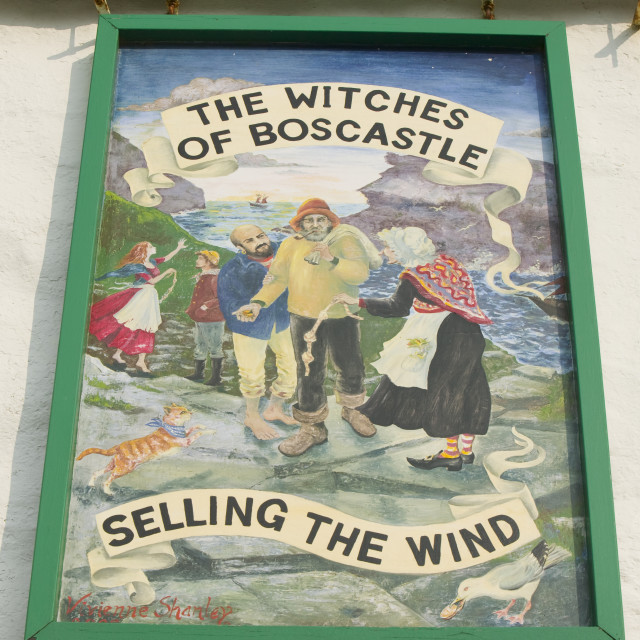 """""""A witch museum in Boscastle Cornwall UK"""" stock image"""