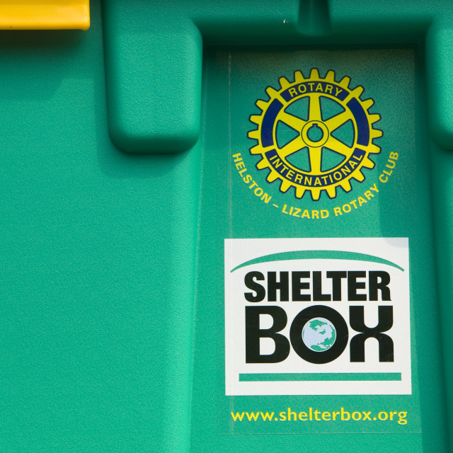"""A shelter box for humanitarian aid"" stock image"