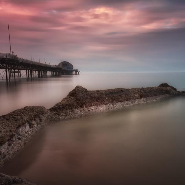 """Mumbles pier sunset"" stock image"