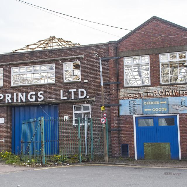 """Derelict Factory"" stock image"