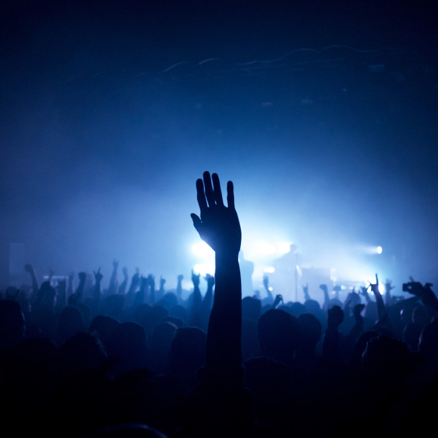 """Concert Crowd"" stock image"