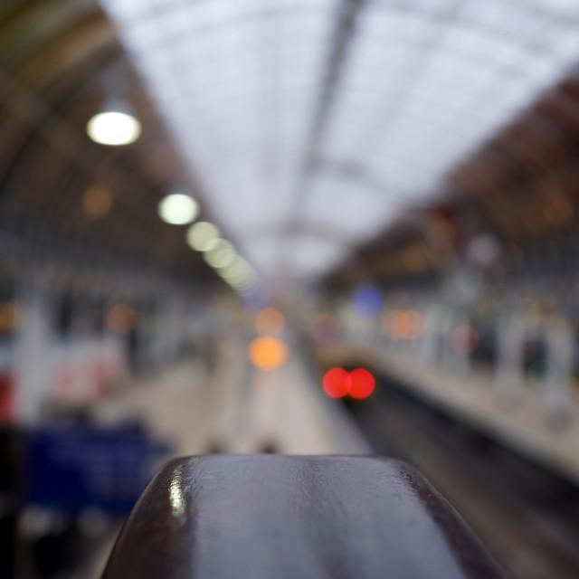 """Abstract Paddington Station"" stock image"