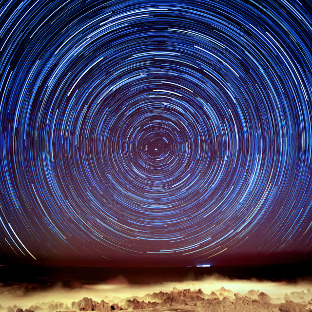 """""""Star Trails in Madeira"""" stock image"""