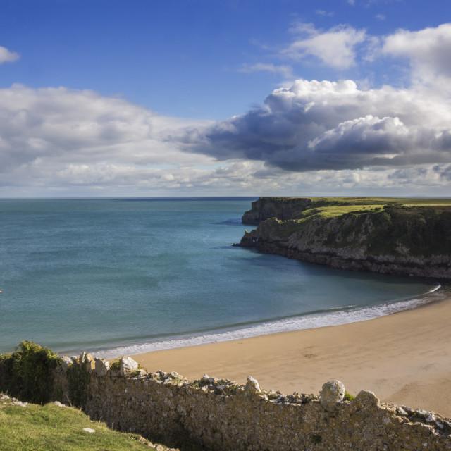 """""""Barafundle beach"""" stock image"""