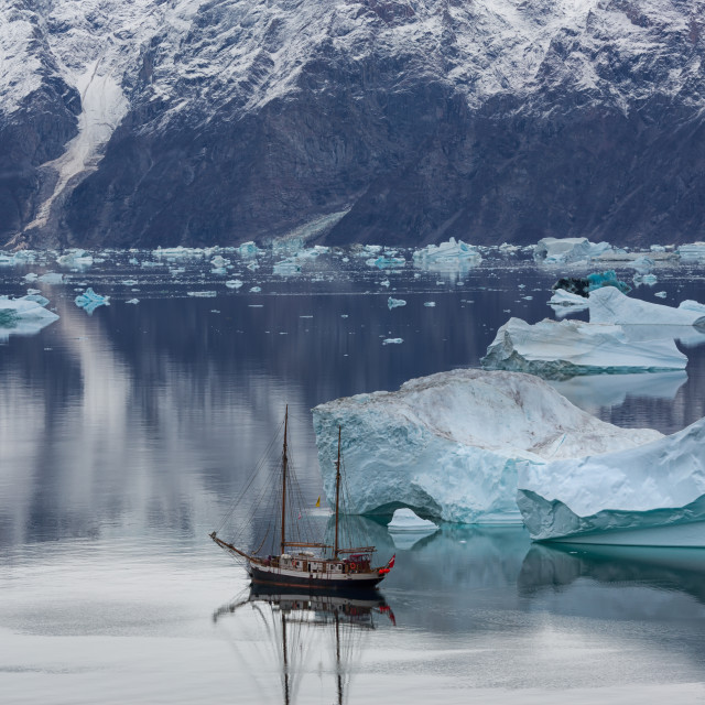 """sail among icebergs"" stock image"