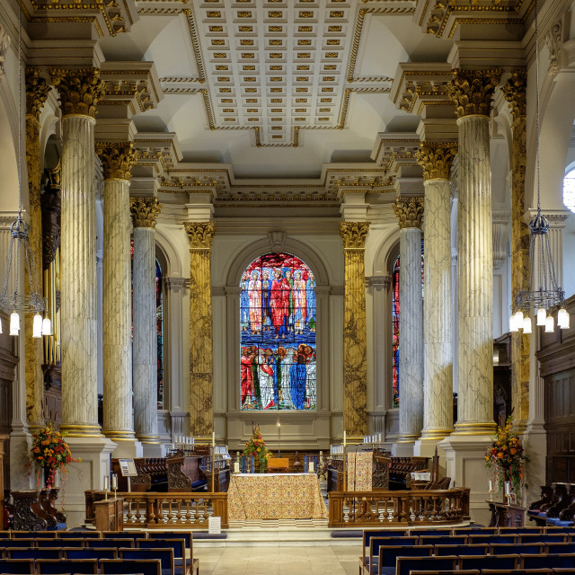 """St Philip's Anglican Cathedral, Birmingham"" stock image"