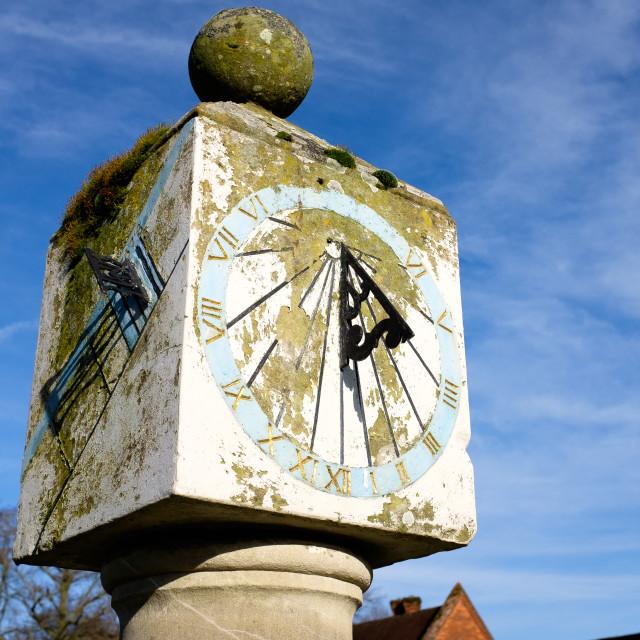 """Sundial, Packwood House, Warwickshire"" stock image"