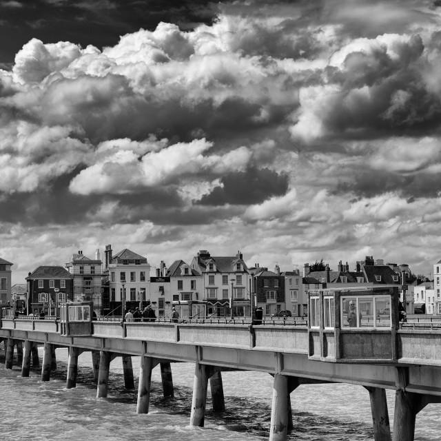 """""""Deal pier in Kent, U.K."""" stock image"""