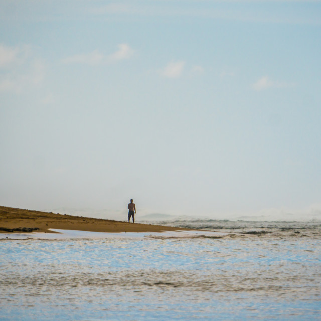 """solitary man, Beach"" stock image"