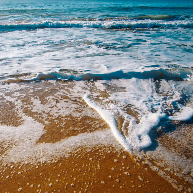 """""""waves on the shore"""" stock image"""