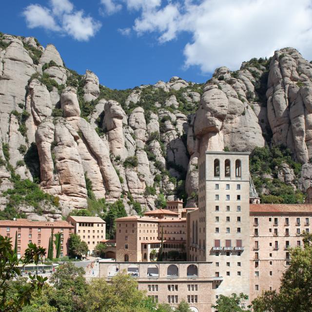 """Montserrat Monastery in Spain"" stock image"