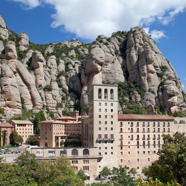 """Montserrat Monastery in Catalonia"" stock image"