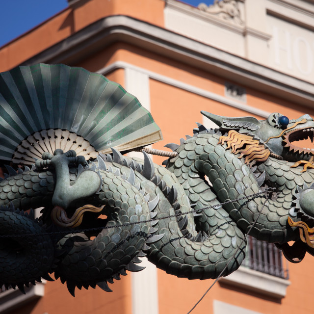 """Chinese Dragon in Barcelona"" stock image"