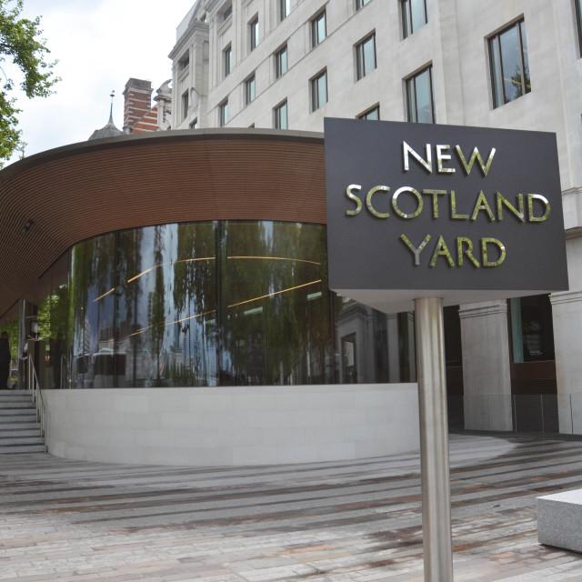 """New , New Scotland yard"" stock image"