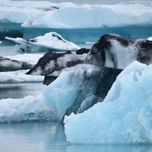 """Jokulsarlon Icebergs"" stock image"