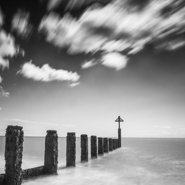 """Mono Frinton Beach In Essex"" stock image"