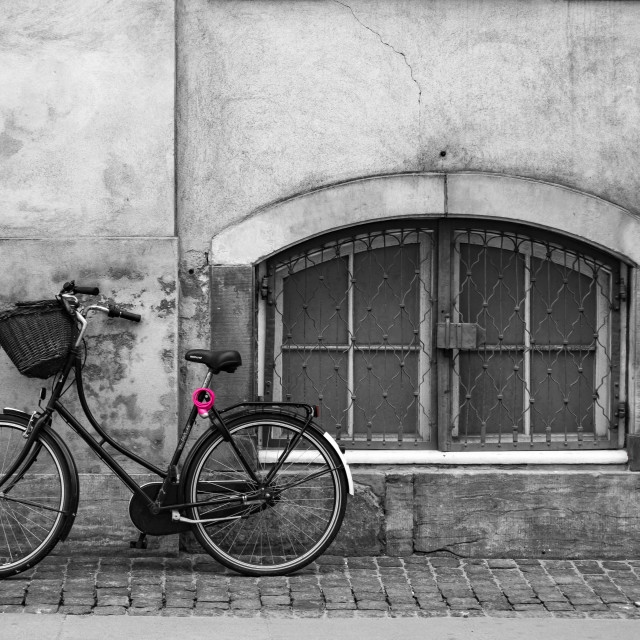 """Bicycle Against the Wall"" stock image"