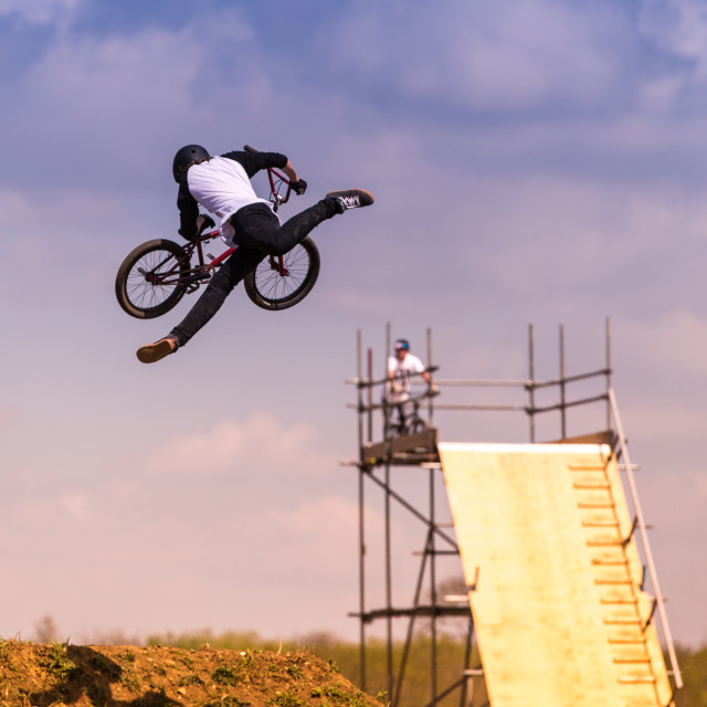 """Cycle Stunt performer"" stock image"