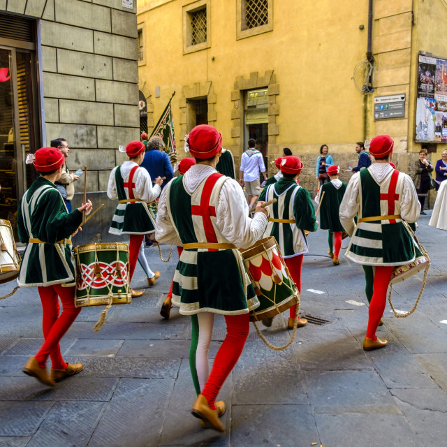 """festivities relationated with Palio in the streets of the city"" stock image"