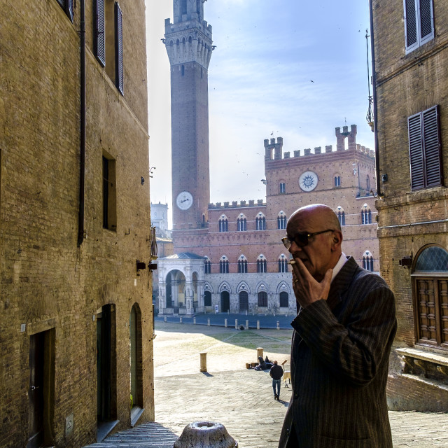 """Piazza del Campo in Siena"" stock image"