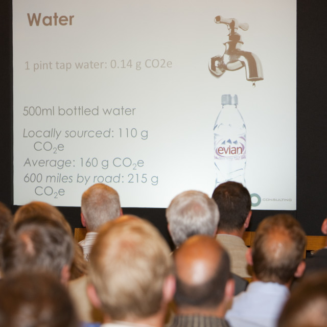 """A low carbon conference held by the Lake District National Park Authority,..."" stock image"