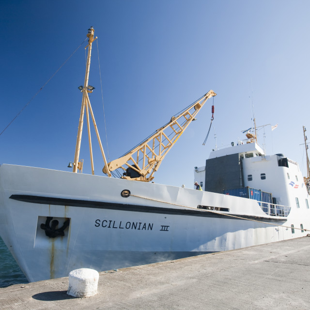 """""""The Scillonian, the passenger ferry that goes daily from Penzance to the..."""" stock image"""
