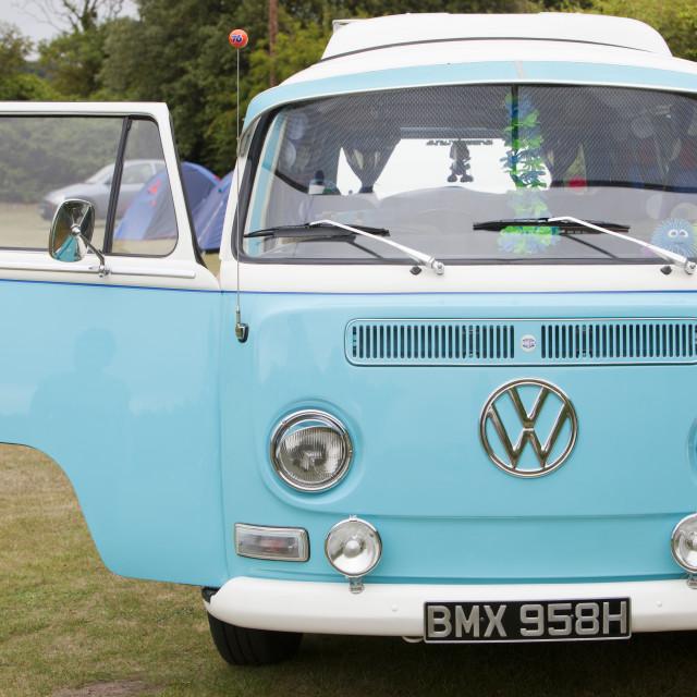 """An old restored VW Camper Van."" stock image"