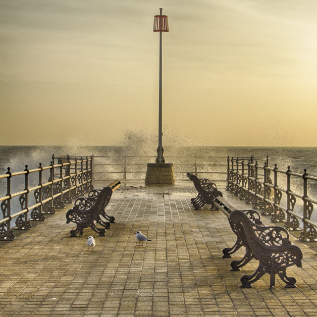 """February Sunrise over Swanage Jetty"" stock image"