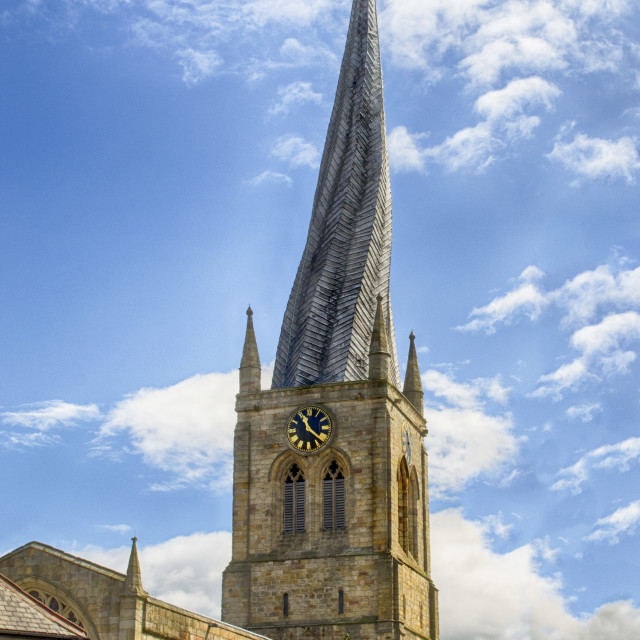 """Crooked Spire of Chesterfield"" stock image"