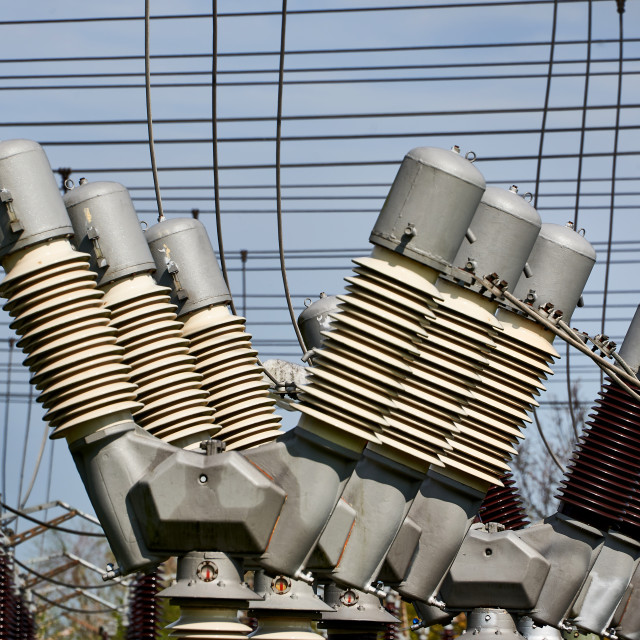 """""""electricity sub transformer station"""" stock image"""