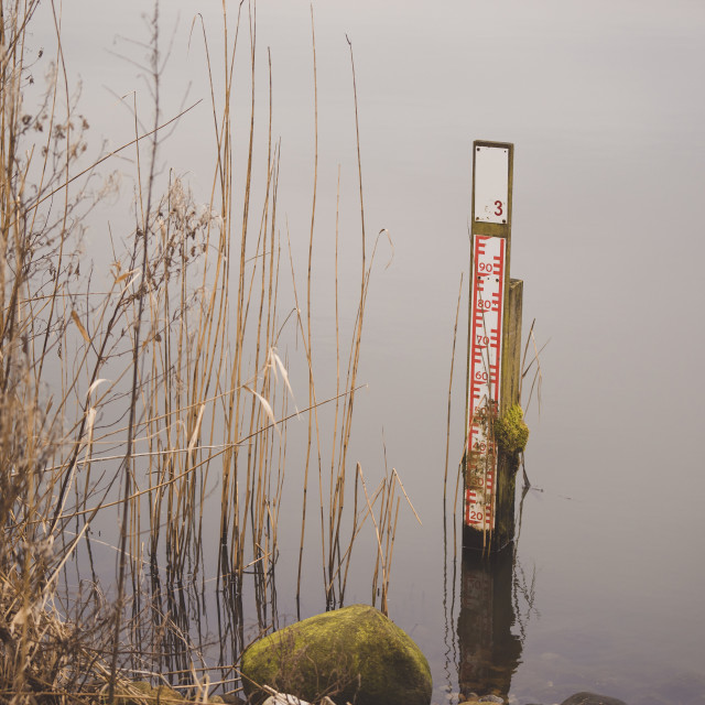 """""""Measure device in a lake"""" stock image"""