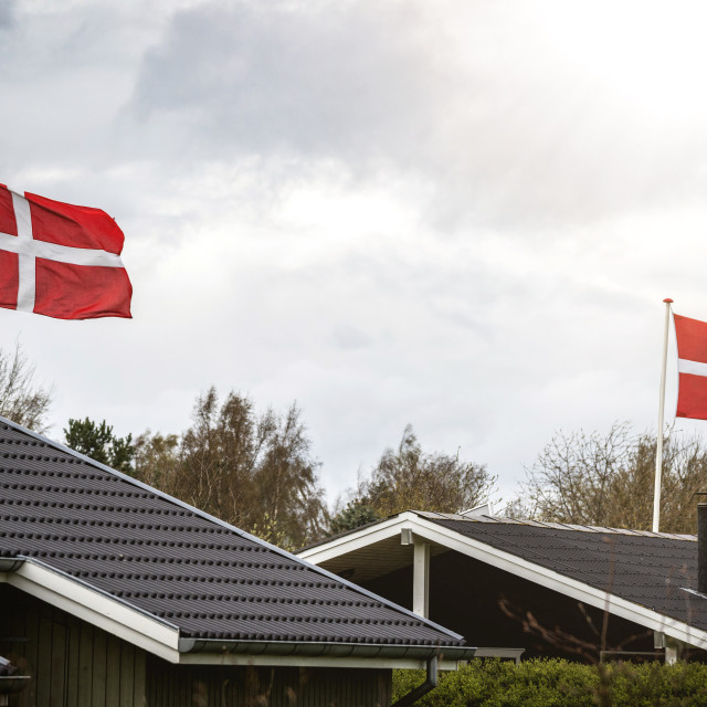 """Danish flag celebration"" stock image"