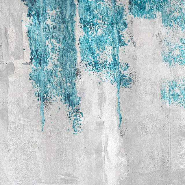"""Blue paint on a grunge wall"" stock image"