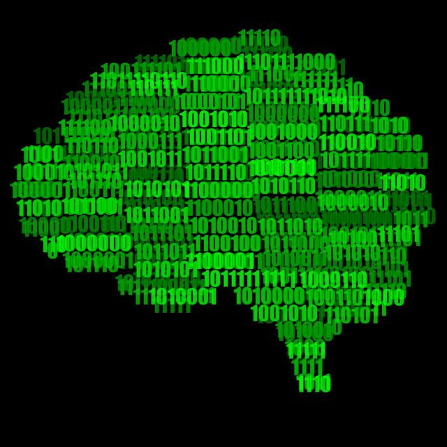 """Digital Brain Illustration"" stock image"